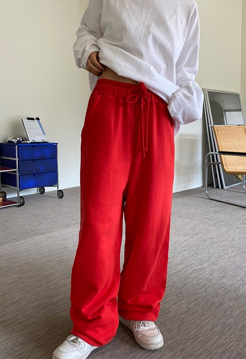 two way wide sweat pants