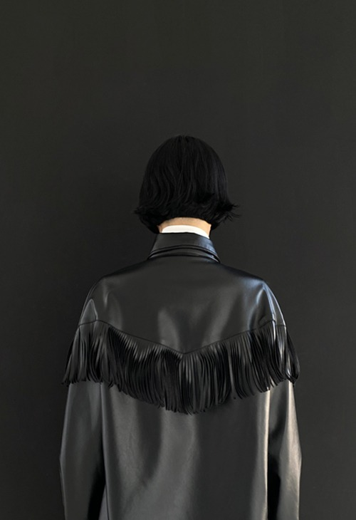 tassel leather shirt