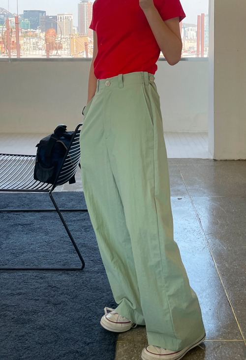 slush button wide pants