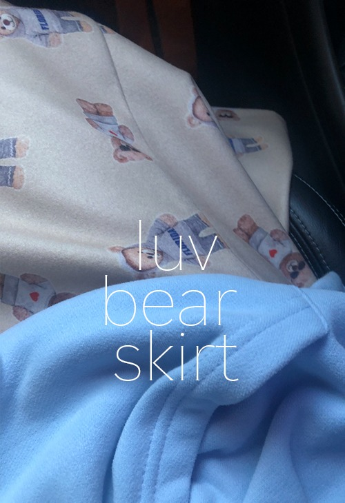 luv bear skirt